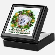 Merry Christmas Schnoodle Keepsake Box