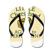 Little Cheesehead Flip Flops