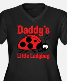 Ladybug Dadd Women's Plus Size Dark V-Neck T-Shirt