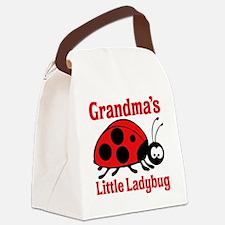 Ladybug Grandma Canvas Lunch Bag