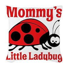 Ladybug Mommy Woven Throw Pillow