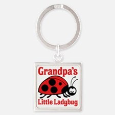 Ladybug Grandpa Square Keychain