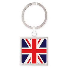 Union Jack Square Keychain