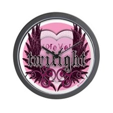 twilight forever pink heart new copy Wall Clock