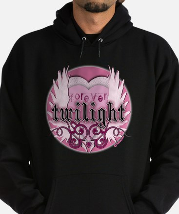 twilight forever light pink heart co Hoodie (dark)