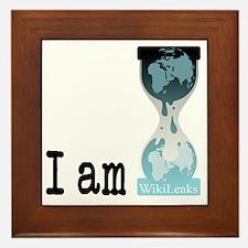I am wikileaks3 Framed Tile