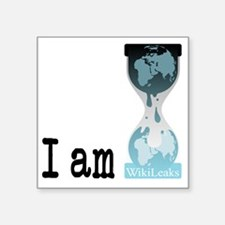 "I am wikileaks3 Square Sticker 3"" x 3"""