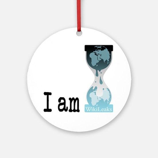 I am wikileaks3 Round Ornament