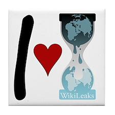 i heart wikileaks2 Tile Coaster