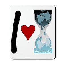i heart wikileaks2 Mousepad