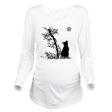 bamboo_clear Long Sleeve Maternity T-Shirt