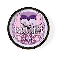 twilight forever purple copy Wall Clock