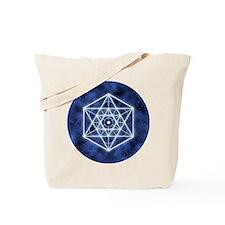 Sirius Large round button Tote Bag