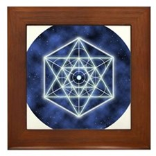 Sirius Large round button Framed Tile