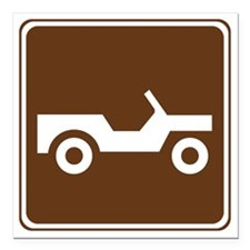 """brown_off_road_vehicle_t Square Car Magnet 3"""" x 3"""""""