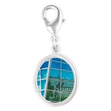 Reflection of Historical Regist Silver Oval Charm