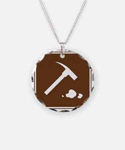 brown_rock_collecting_sign_r Necklace