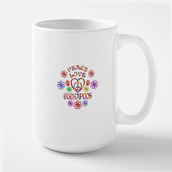 Peace Love Cockapoos Mugs