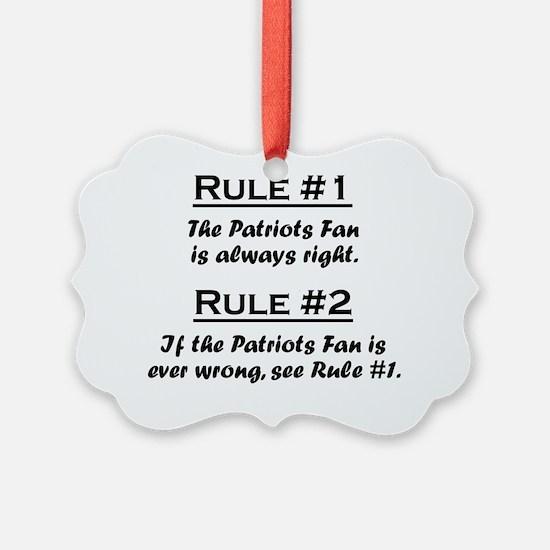 Rule Patriot Fan Ornament