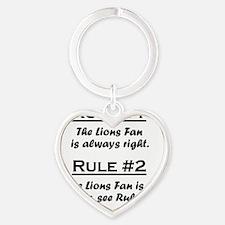 Rule Lions Fan Heart Keychain