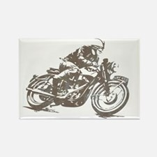 vintage cafe racer Rectangle Magnet