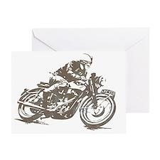 vintage cafe racer Greeting Card