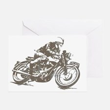vintage cafe racer Greeting Card