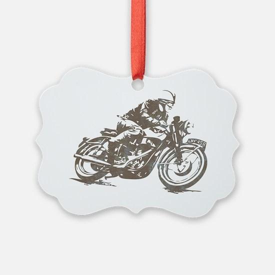 vintage cafe racer Ornament
