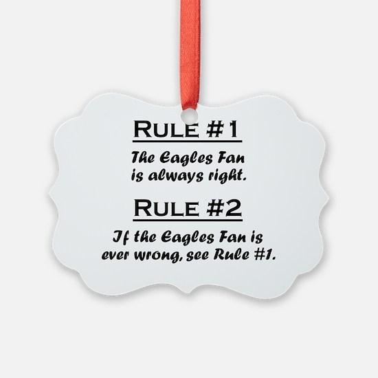 Rule Eagles Fan Ornament