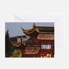Night view of archway in Confucius T Greeting Card
