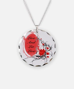 Alcoholism Necklace Circle Charm