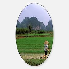 China, South China. Guilin / Yangzh Sticker (Oval)