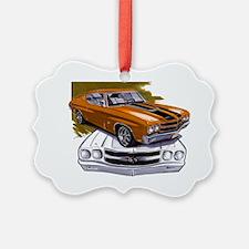 1970 Chevelle Orange-Black Car Ornament