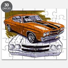 1970 Chevelle Orange-Black Car Puzzle