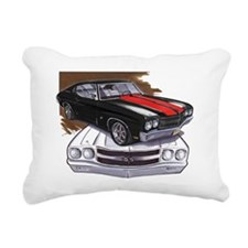1970 Chevelle Black-Red  Rectangular Canvas Pillow