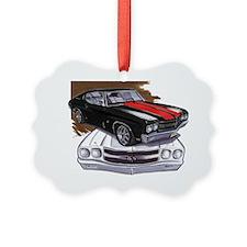 1970 Chevelle Black-Red Car Ornament
