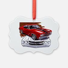 1970 Chevelle Red-Black Car Ornament
