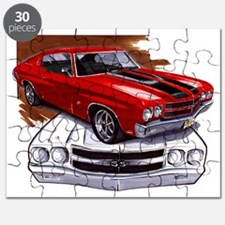 1970 Chevelle Red-Black Car Puzzle