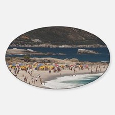 Camps Bay. Popular white sand beach Decal