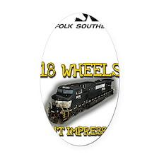 sigg_18wheels Oval Car Magnet