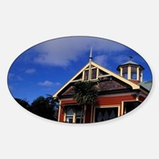 Merchant's House 1870 North Island, Sticker (Oval)