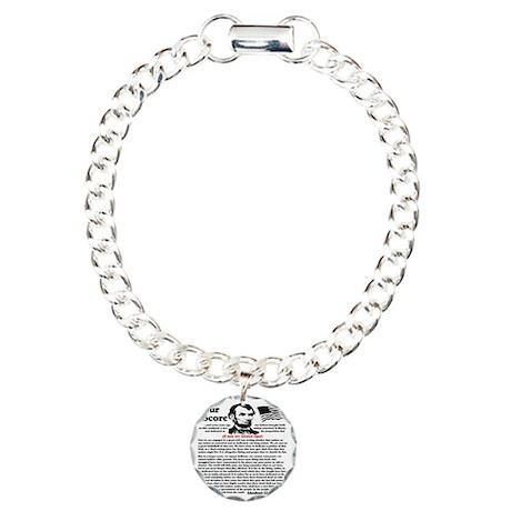 fourscorecleartemplate4 Charm Bracelet, One Charm