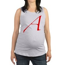 Scarlet Letter - trans Maternity Tank Top