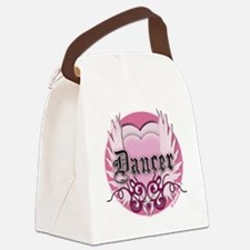 dancer pink heart wings copy Canvas Lunch Bag