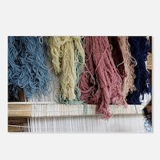 Turkish woman carpet weav Postcards (Package of 8)