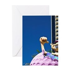 Surfer's Paradise. Golf Ball Statue  Greeting Card