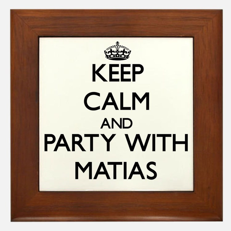 Keep Calm and Party with Matias Framed Tile