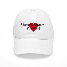 Heart on for Karl Baseball Cap