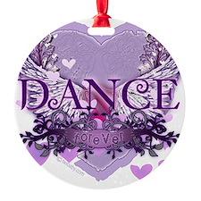 dance forever purple heart copy Ornament