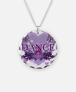 dance forever purple heart c Necklace